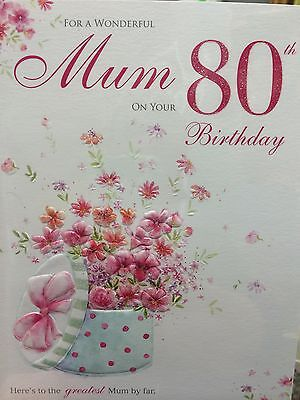 To A Special Mum On Your 80th Birthday Card 299 Picclick Uk