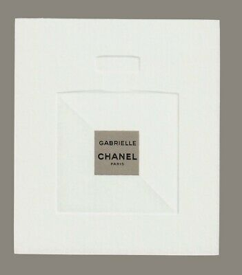 carte publicitaire - advertising card   -  Gabrielle  de Chanel
