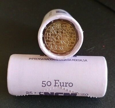 """2€ Portugal 2018 """"250 Years National Printing Office"""" UNC"""