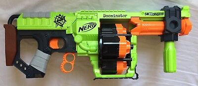 Nerf Zombie Strike Doominator - Includes Ammo - Great Condition