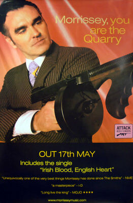Morrissey poster You Are The Quarry UK promo 60 X 40 ATTACK 2004