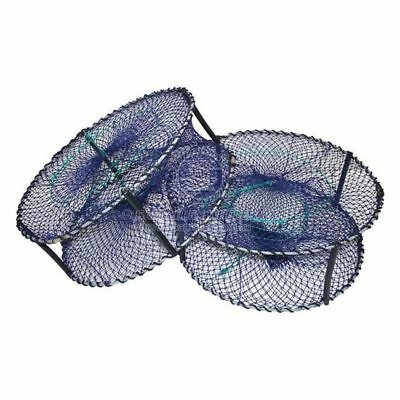 Pro 900 4 Entry Round Crab Pot Navy Blue 900mm 31cm Height Fishing Marine Boat