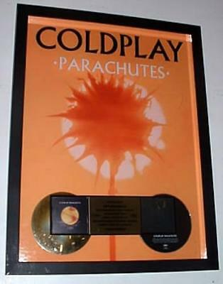 Parachutes Coldplay award disc USA promo GOLD AWARD NETTWERK/CAPITOL