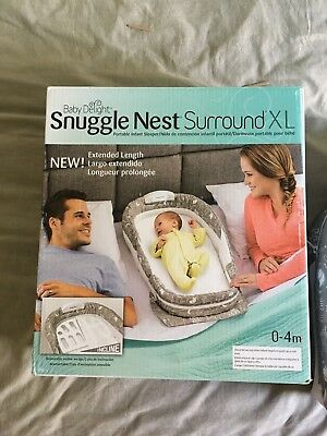 Baby Delight Snuggle Nest Bed Surround XL Grey  0-4m Extended Length Co sleeper