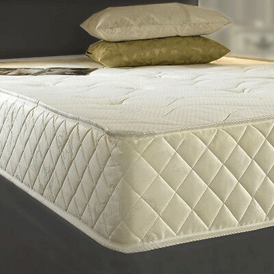 Orthopaedic Memory Spring Foam New Quilted Sprung Mattress 3ft 4ft6 5ft Matress