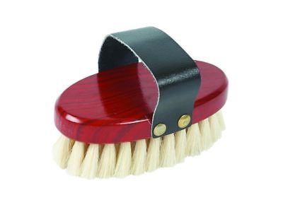 Roma Goat Hair Body Brush Soft Bristles Give Horse Coats a Shine for Shows