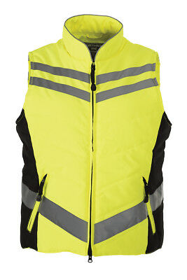 Equisafety Quilted Reflective Fitting Riding Vest with Deep Storm Neck