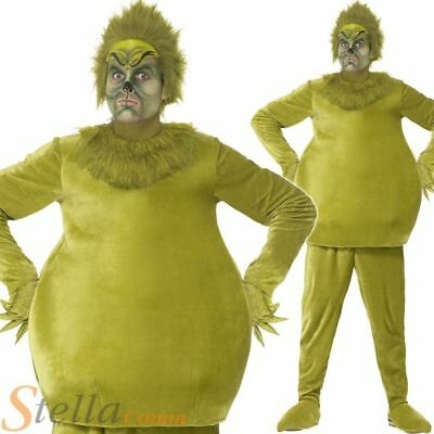 The Grinch Costume Adult Official Mens Christmas Fancy Dress Outfit