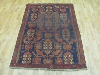 A SUPERB OLD HANDMADE HAMEDAN PERSIAN RUG (170 x 110 cm)