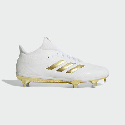 9c61e06df08 Adidas Adizero Afterburner 4 Men s Metal Baseball Cleats White Gold - BY3312