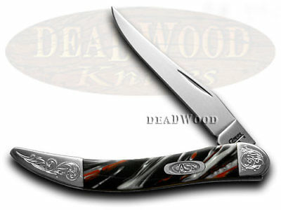 CASE XX Engraved Bolster Series Genuine Man In Black Corelon Toothpick Knives