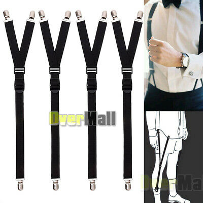 4 x Luxury Military Y Style Shirt Holders Uniform Shirt Stays Keepers Garters US