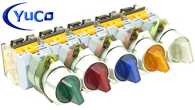 YC-SS22XPMA-I Illuminated Selector Switch Choose: Color Voltage 2 or 3 Position