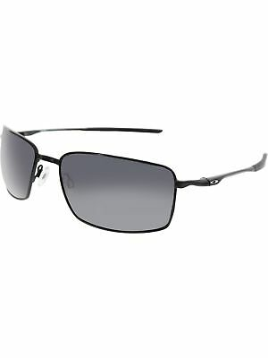 Oakley Men's Square Wire OO4075-01 Black Rectangle Sunglasses