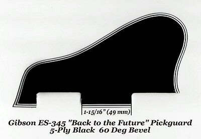 "ES-345 335 Pickguard 5-Ply Black ""Back to the Future"" for Gibson Guitar Project"