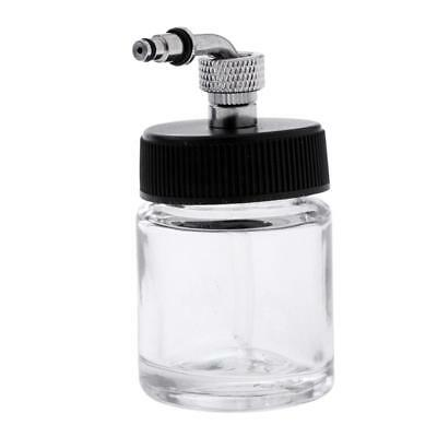 22CC Side-Pot Airbrush Glass Bottle Feed Airbrushing Paint Lid Adapter Cup