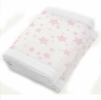 Breathable Baby Two Sided Mesh Liner Twinkle Star - Pink