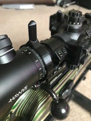 3D Printed  Zoom Wheel Lever for Hawke Sidewinder Rifle Scope