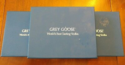NIB New Grey Goose Vodka Olive Fruit Picks Set of 4 in Gift Box Stainless Steel