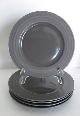 Excellent DANSK Rondure Dinnerware Charcoal Gray 9 1/2 inch Dinner Salad Plates & EXCELLENT DANSK RONDURE Dinnerware Charcoal Gray 9 1/2 inch Dinner ...