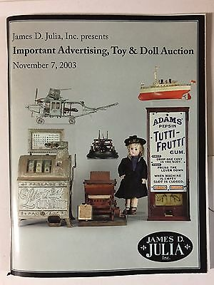 2 James Julia Important Antique Advertising  Auction Catalogs 2001-2003
