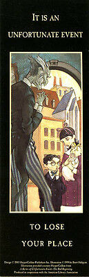 Series of Unfortunate Events Bookmark Lemony Snicket *BRAND NEW MINT CONDITION*