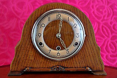 Vintage 'Bentima Perivale' Floating Balance Mantel Clock with Westminster Chimes