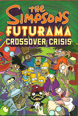 THE SIMPSONS FUTURAMA Crossover Crisis box set & SIMPSONS #1 comic MATT GROENING