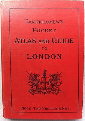 Bartholomew's pocket Atlas and Guide to London, [John Bartholomew] 1929 hardback