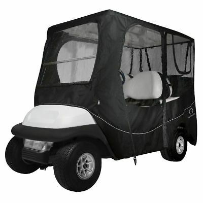 DLX GOLF CAR ENCLOSURE LONG ROOF, Black - Classic# 40-055-340401-00