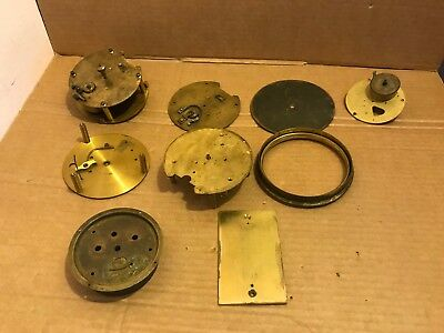 Vintage Mostly Brass Clock Parts - Please see pictures