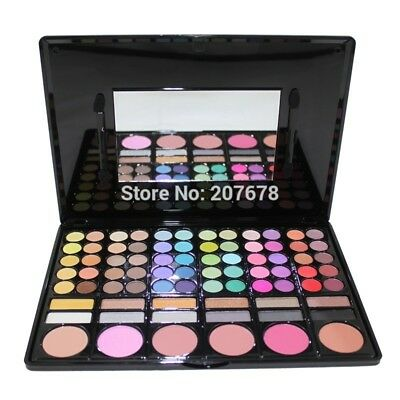 78 Color Eyeshadow Makeup Pallete Cheek Blush Pressed Powder Make Up Set