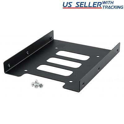 """(5-pack) 2.5"""" to 3.5"""" Bay SSD Metal Hard Drive HDD Mounting Bracket Adapter Tray"""