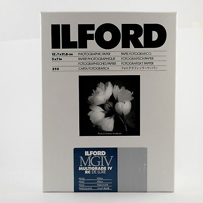 ILFORD Darkroom Paper Multigrade IV RC 250 Sheets 5x7 Pearl MG4RC44M – BRAND NEW