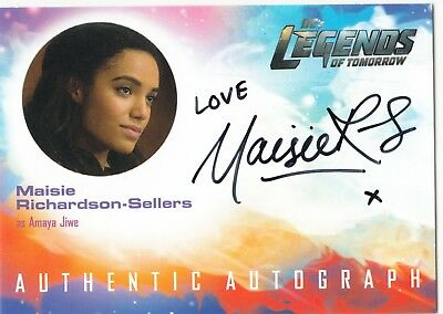2018 Cryptozoic DC Legends of Tomorrow Auto Maisie Richardson-Sellers - Amaya
