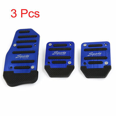 3 in 1 Blue Universal Non-Slip Gas Clutch Brake Pedal Pad Cover for Car