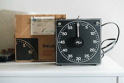 GraLab Model 300 Electric Darkroom Timer w/ Box (TESTED)