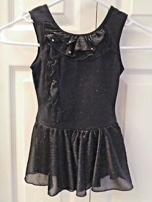 NWT Freestyle by Danskin Black Glitter Leotard  Ballet Dance Gymnastics XS or S