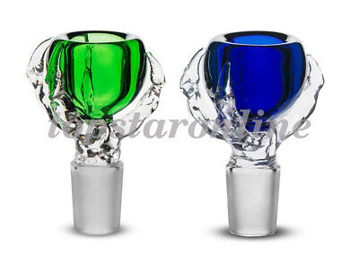 2PC 14mm Dragon Claw Glass Bowl Male&Free Screens USA Fast Free Shipping