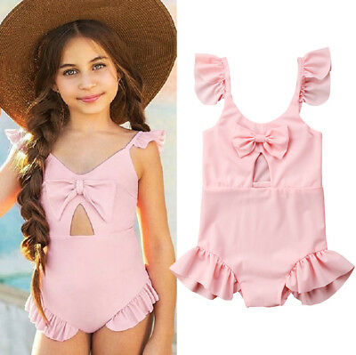 US Seller Cute Toddler Baby Kids Girls Bikini Swimwear Swimming Bathing Swimsuit