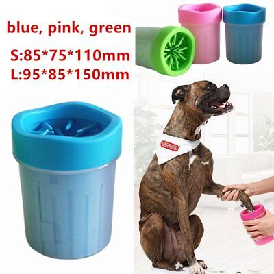 HOT Comfortable Soft Silicone Pets Dogs Cats Paw Plunger Mud Cleaner Washer pMI@
