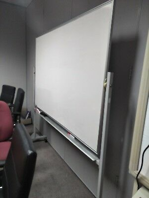 Large Double Sided Free Standing Whiteboard - great working condition...