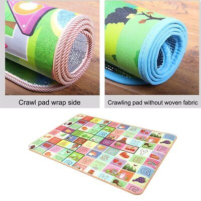 Environmental Friendly Children Cartoon Soft Play Crawling Creeping Blanket M@