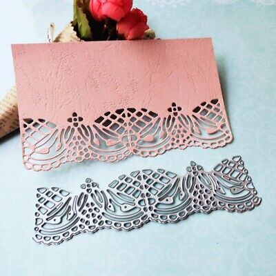 Metal Cutting Dies Stencils Lace Border Scrapbook Card Paper Album Embossing