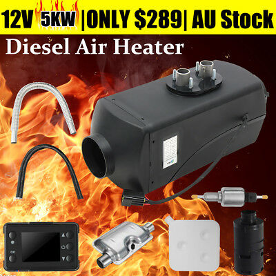 12V 5KW Air diesel Heater LCD Monitor For Trucks Boats Bus Car Motor-homes 5000W