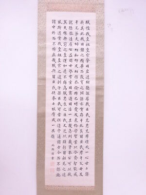 3580567: Japanese Wall Hanging Scroll / Hand Painted / Calligraphy