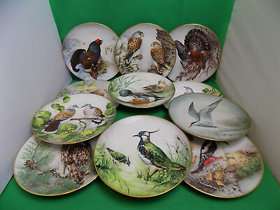 Haviland Limoges For Franklin Birds Plates Collection 1984 Limited First Edition