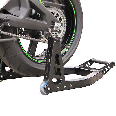 Tech-7 Alloy Rear Motorcycle Paddock Stand Race Track with Hooks New