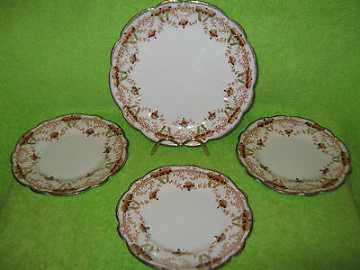 Melba Ware Bone China 4 X Plates, Beautiful  Floral Pattern