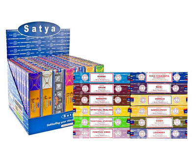 Genuine Satya Nag Champa Incense Sticks Joss 15 gm Pack From 0.99p  Mixed Scent